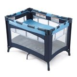 Foundations Celebrity Play Yard Crib with Bassinet, Blue