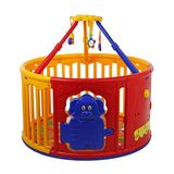 Dream On Me Deluxe Circuliar Playard with Jungle Gym, Red/Yellow
